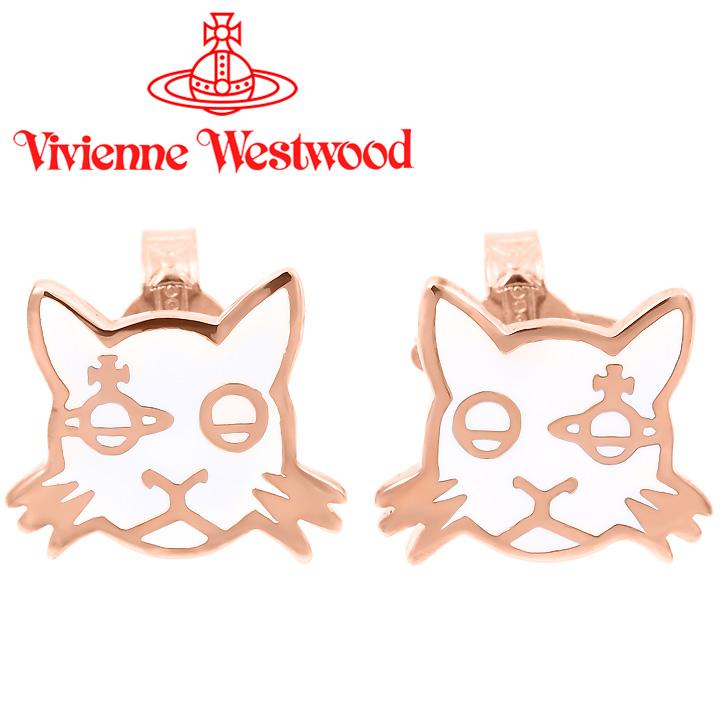 ヴィヴィアンウエストウッド ピアス レディース Vivienne Westwood ヴィヴィアン カットピアス ホワイト×ピンクゴールド BE1471/7 【お取り寄せ】【送料無料】