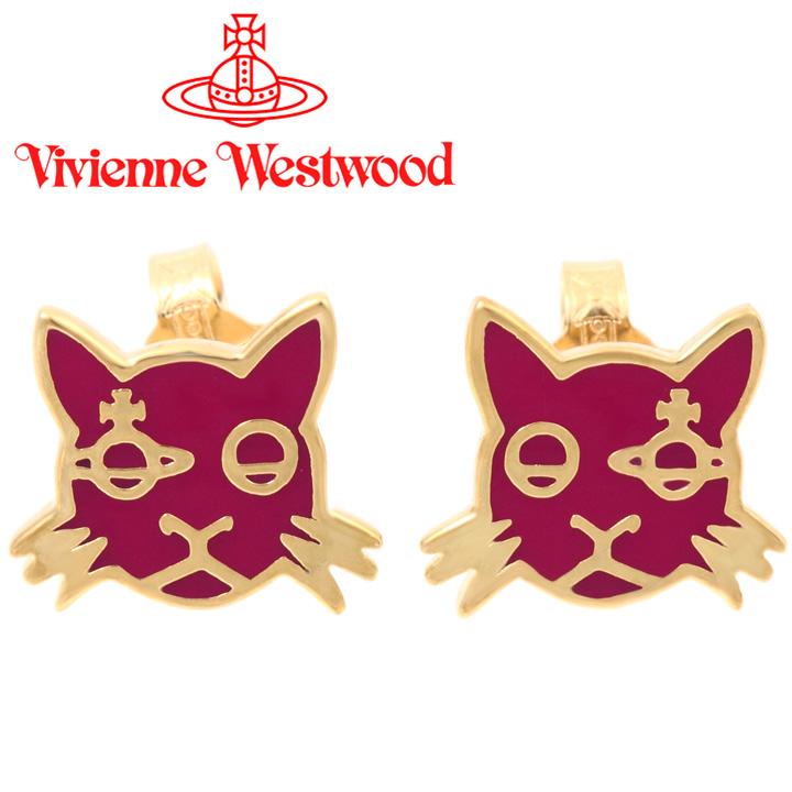 ヴィヴィアンウエストウッド ピアス レディース Vivienne Westwood ヴィヴィアン カットピアス マゼンタ×ゴールド BE1471/6 【あす楽】【送料無料】