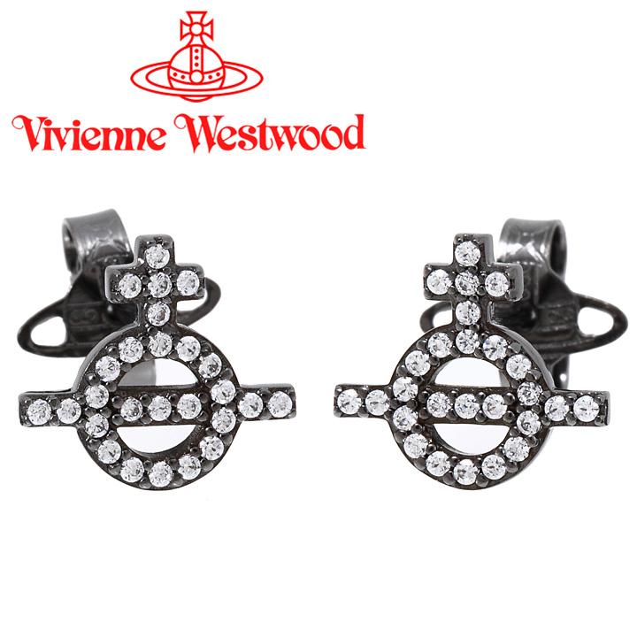 ヴィヴィアンウエストウッド ピアス レディース Vivienne Westwood ヴィヴィアン ウィルバピアス ガンメタル BE626605/4 【あす楽】【送料無料】