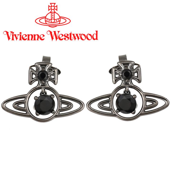 ヴィヴィアンウエストウッド ピアス レディース Vivienne Westwood ヴィヴィアン シーラピアス ガンメタル 62010106-S101 【あす楽】【送料無料】