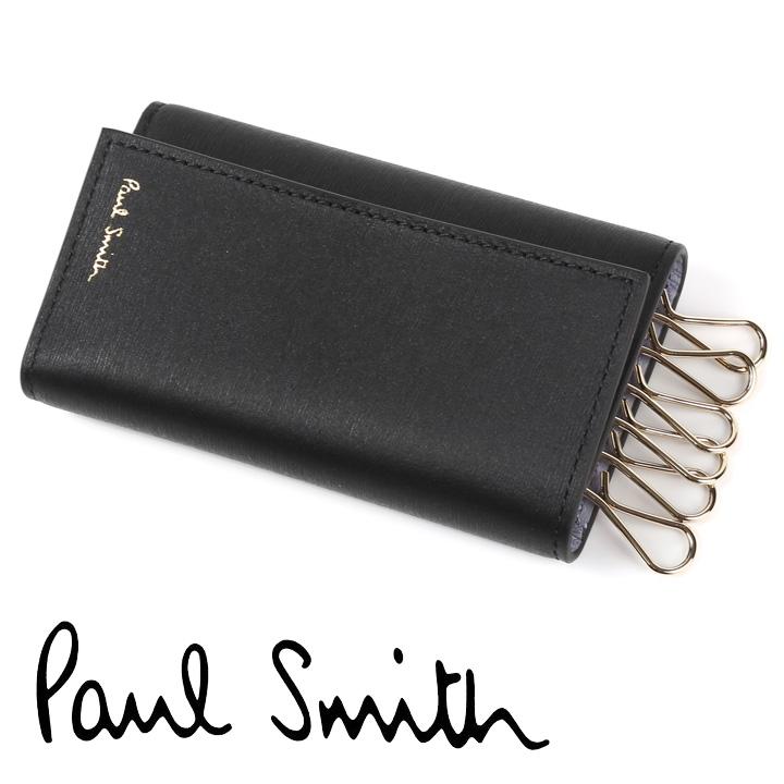 ポールスミス PaulSmith キーケース ブラック ライラック モスグリーン M1A-1981-ASTRGS 78 【並行輸入品】