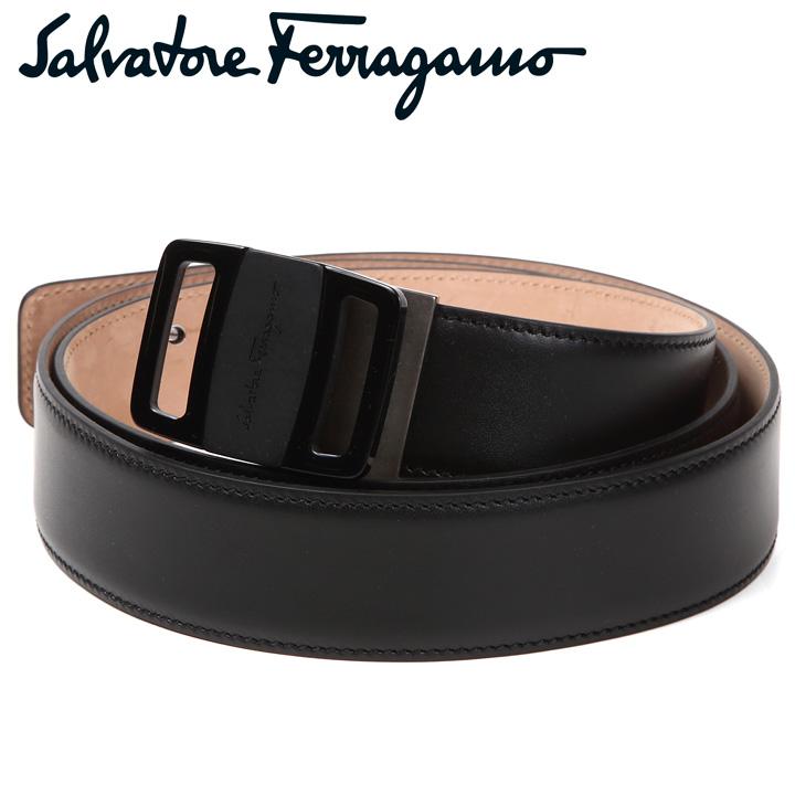 フェラガモ ベルト Salvatore Ferragamo サルヴァトーレフェラガモ メンズベルト ブラック 679775 677677 【あす楽】【送料無料】【父の日】