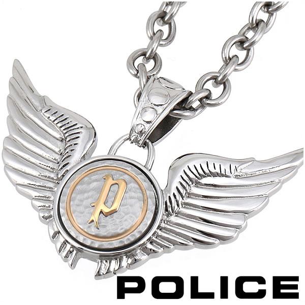 ポリス ネックレス ウィングペンダント メンズ POLICE DOUBLE WINGS 20733PSG02