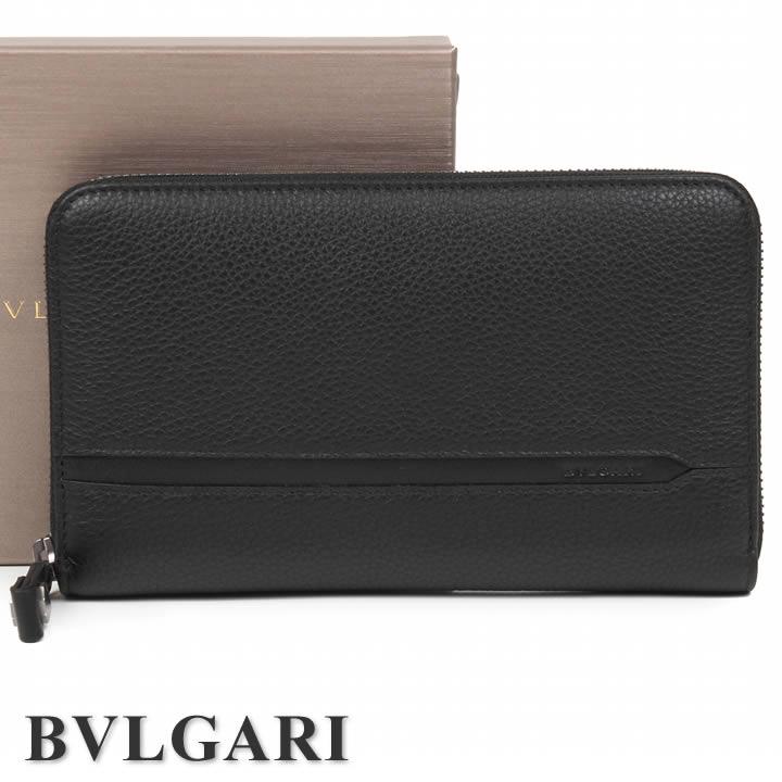 ブルガリ 長財布 BVLGARI ラウンドファスナー財布 レディース メンズ オクト ブラック 36968 【あす楽】【送料無料】