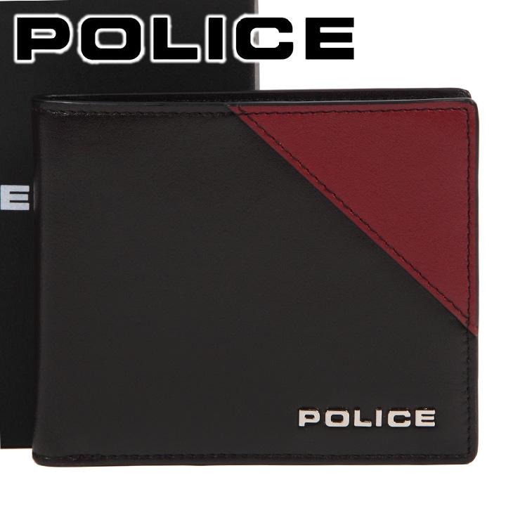 ポリス 二つ折り財布 POLICE 財布 本革 メンズ 男性用 ブラウン×レンガ PLC142 BROWN 【あす楽】【送料無料】
