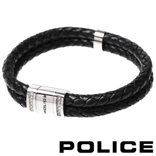 セール ポリス ブレスレット メンズ お見舞い POLICE レザーブレスレット あす楽 送料無料 24652BLB01 ROADSTER