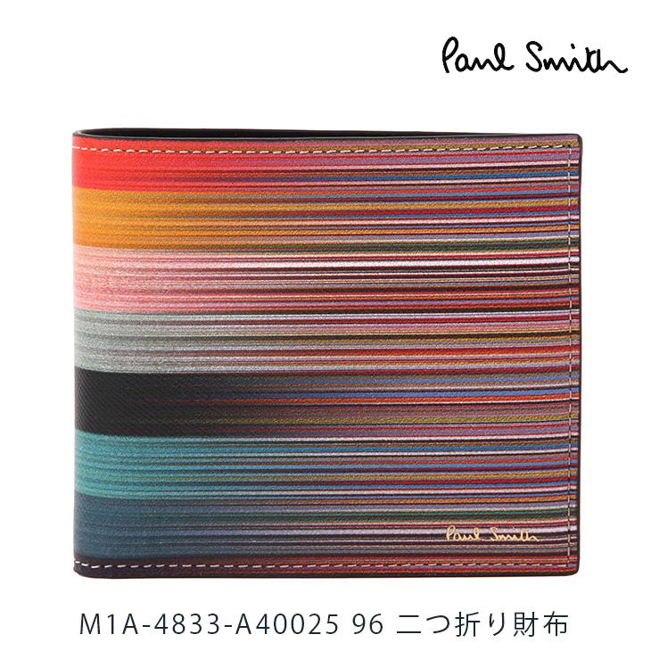 ポールスミス 財布 Paul Smith 二つ折り財布 メンズ マルチカラーストライプ M1A-4833-A40025 96 【並行輸入品】