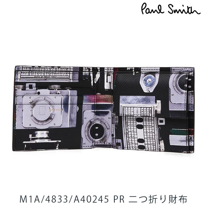 ポールスミス 財布 Paul Smith 二つ折り財布 メンズ ブラック カメラ M1A-4833-A40245 PR 【並行輸入品】