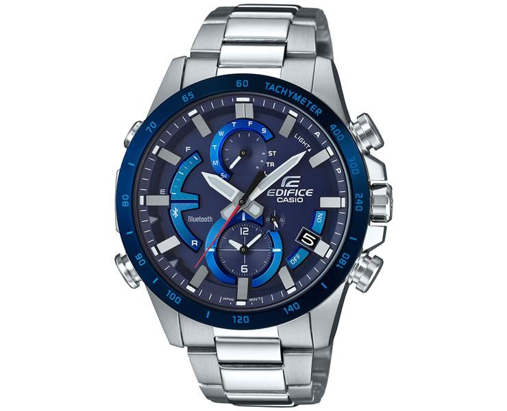 カシオ エディフィス スマートフォンリンク機能 ネイビー&ブルーフェイス EQB-900DB-2AJF CASIO EDIFICE Bluetooth搭載 クロノグラフ 青 紺 メンズ 腕時計 【あす楽】
