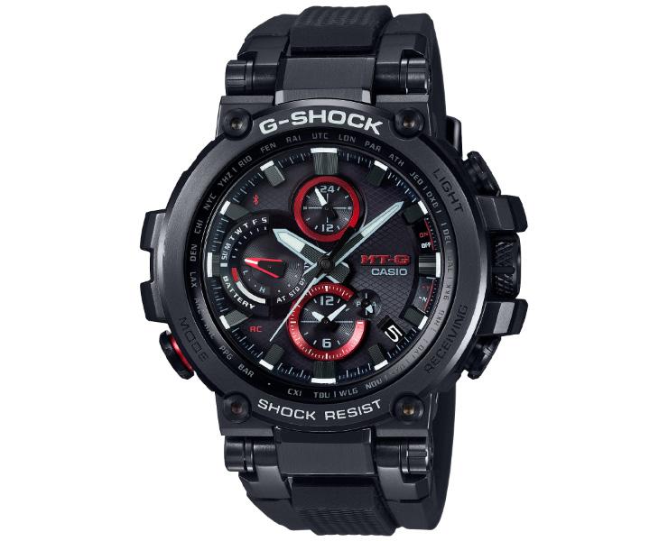 カシオ Gショック MT-G MTG-B1000B-1AJF 電波 ソーラー スマートフォンリンク機能 ブラック CASIO G-SHOCK Bluetooth搭載 タフソーラー 電波時計 メタルケース&ウレタンバンド 黒 メンズ 腕時計 【あす楽】