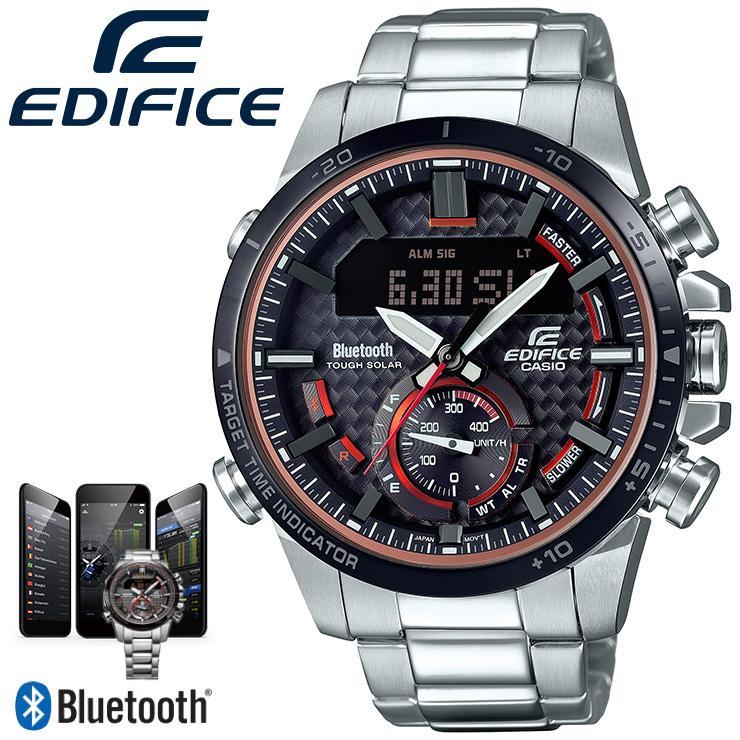 カシオ エディフィス Bluetooth搭載 スマートフォンリンク ECB-800DB-1AJF CASIO EDIFICE クロノグラフ デジタル&アナログ コンビネーションモデル メンズ 腕時計【あす楽】