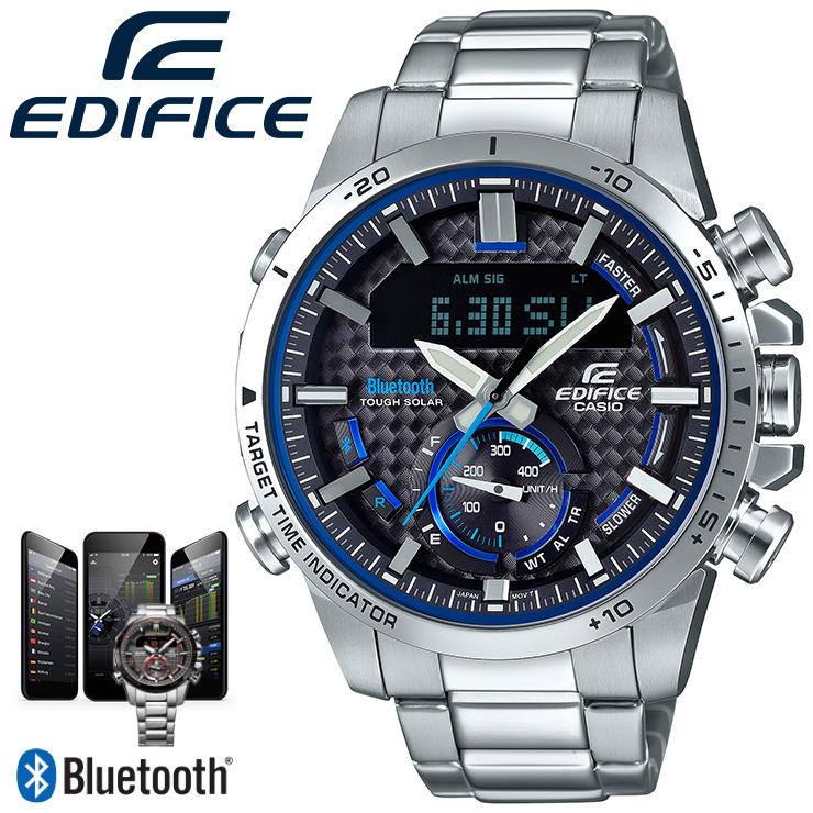 カシオ エディフィス Bluetooth搭載 スマートフォンリンク ECB-800D-1AJF CASIO EDIFICE クロノグラフ デジタル&アナログ コンビネーションモデル メンズ 腕時計 【あす楽】