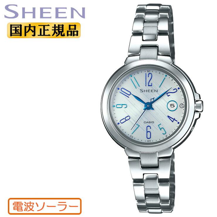 カシオ シーン 電波 ソーラー シルバー SHW-5100D-7AJF CASIO SHEEN 電波時計 銀 レディス レディース 腕時計 【あす楽】