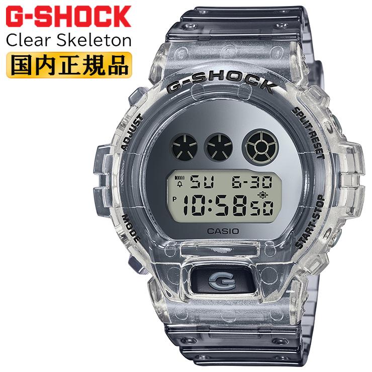 カシオ Gショック ORIGIN 6900 クリア・スケルトン シルバー DW-6900SK-1JF CASIO G-SHOCK Clear Skeleton グレースケルトン 銀色 メンズ 腕時計 【あす楽】