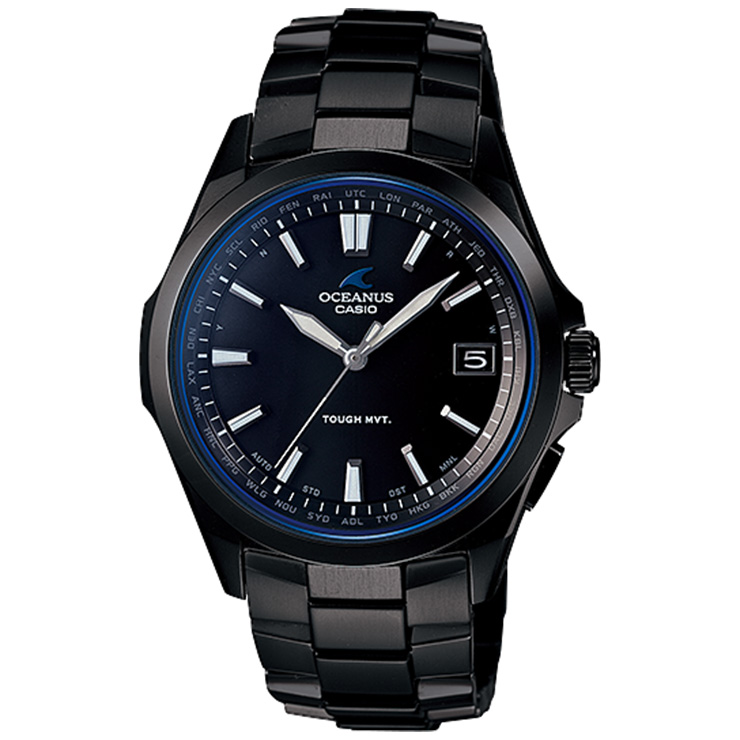 OCEANUS オシアナス OCW-S100B-1AJF CASIO カシオ ソーラー 電波時計 チタンバンド スマートアクセス ブラックIP オールブラック シンプルな3針クラシックライン メンズ 腕時計 【あす楽】【在庫あり】