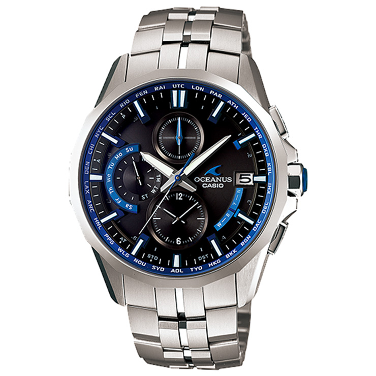 カシオ オシアナス マンタ OCW-S3000-1AJF CASIO OCEANUS Manta ソーラー 電波時計 クロノグラフ 最高峰 薄型 スマートアクセス メンズ 腕時計 【あす楽】