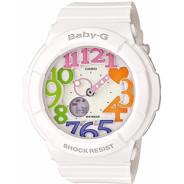 BABY-G ベビーG カシオ CASIO BGA-131-7B3JF ネオンダイアルシリーズ ブラックライトで光るネオンイルミネーター アナログ × デジタル ホワイト レディース 腕時計 【あす楽】