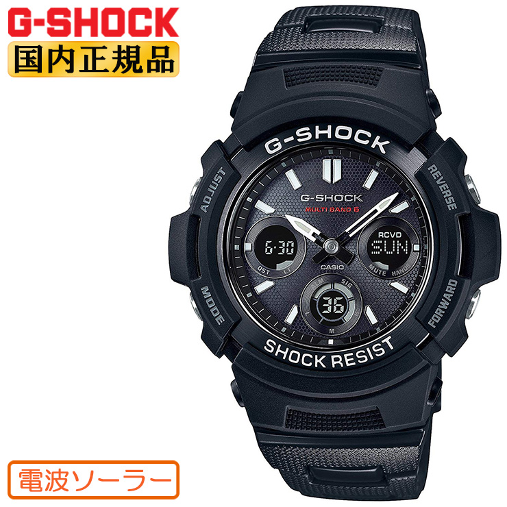 AWG-M100SBC-1AJF G-SHOCK 電波 ソーラー Gショック CASIO カシオ 電波時計 デジタル×アナログコンビ メタルコアバンド ブラック 黒 メンズ 腕時計 【あす楽】