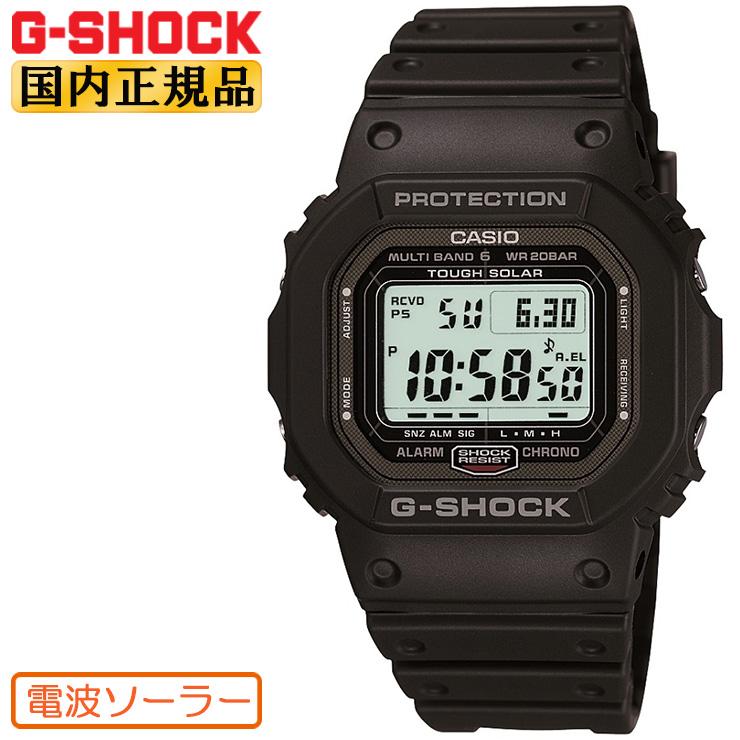 カシオ G-SHOCK 電波 ソーラー ORIGIN 5600 GW-5000-1JF CASIO Gショック タフソーラー 電波時計 スクリューバック ブラック 黒 メンズ 腕時計 【あす楽】【在庫あり】