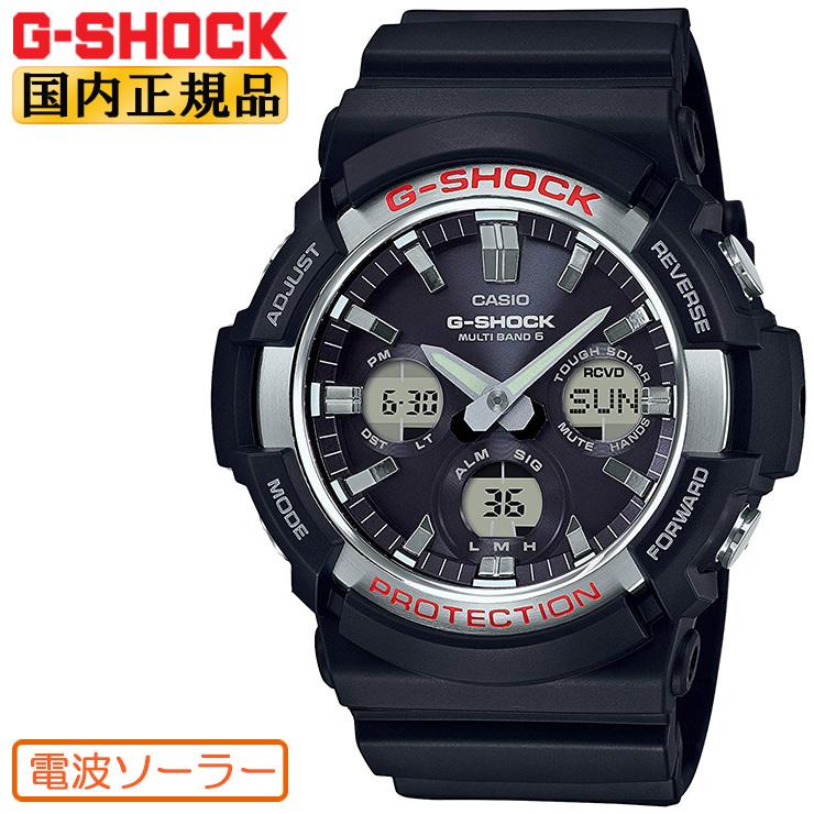 G-SHOCK 電波 ソーラー ビッグケース GAW-100-1AJF CASIO カシオ Gショック タフソーラー 電波時計 アナログ&デジタル コンビネーション 黒 メンズ 腕時計 【あす楽】【在庫あり】