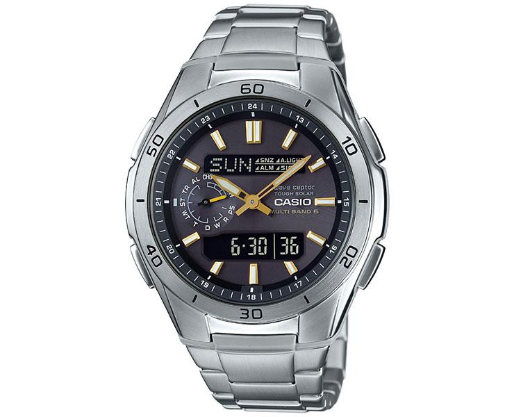 カシオ 電波 ソーラー WVA-M650D-1A2JF CASIO WaveCeptor ウェーブ・セプター タフソーラー 電波時計 メタルバンド アナログ デジタル メンズ 腕時計 【あす楽】【在庫あり】