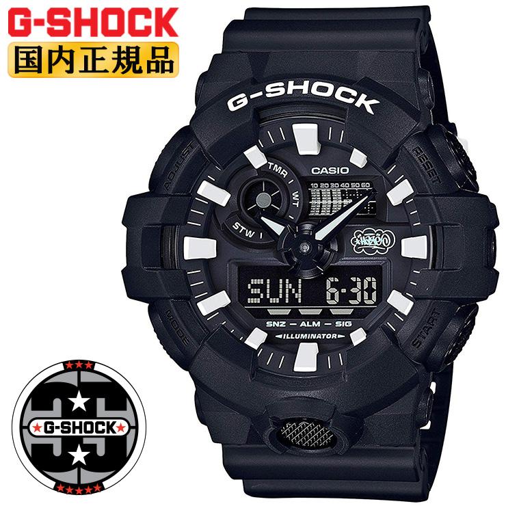 G-SHOCK 35周年記念コラボレーションモデル エリック・ヘイズ ビッグケース GA-700EH-1AJR カシオ Gショック アナログ&デジタル コンビネーション ブラック&ホワイト 黒 白 メンズ 腕時計 【あす楽】【在庫あり】