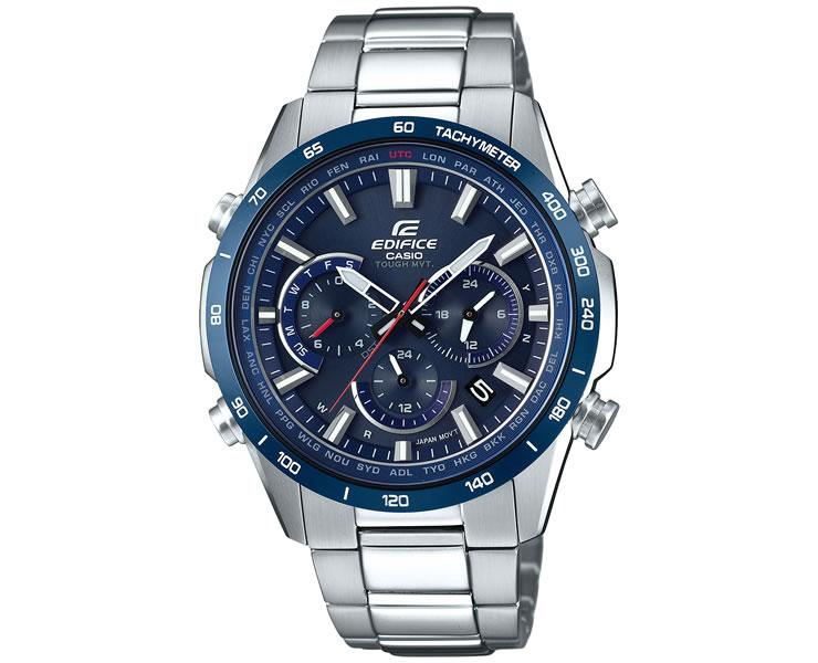 カシオ エディフィス タフソーラー 電波時計 ブルーベゼル EQW-T650DB-2AJF サファイアガラス メンズ 腕時計 【あす楽】【在庫あり】