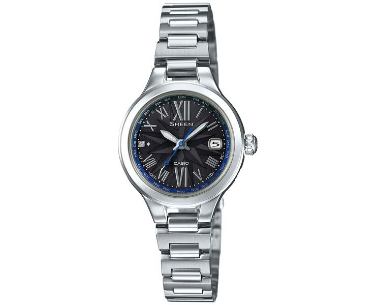 カシオ シーン タフソーラー 電波時計 ボヤージュシリーズ SHW-1750D-1AJF スワロフスキークリスタル レディス レディース 腕時計 【あす楽】【在庫あり】
