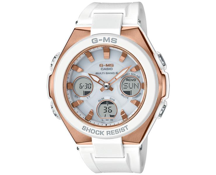 カシオ ベビーG G-MS 電波 ソーラー MSG-W100G-7AJF ホワイト&ゴールド 白 金 レディス レディース 腕時計 CASIO BABY-G 【あす楽】