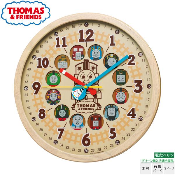 きかんしゃトーマス THOMAS CQ221B 大型 電波 掛 時計 グリーン購入法適合 木枠 名入れ可 文字入れ可 【お取り寄せ】 【02P03Dec16】