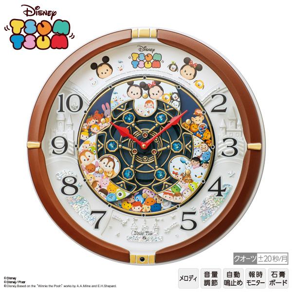 ディズニー Disney ツムツム TSUMTSUM からくり 時計 FW588B ミッキー 全30曲 セイコー SEIKO クオーツ 【お取り寄せ】【Disneyzone】【02P03Dec16】 【RCP】