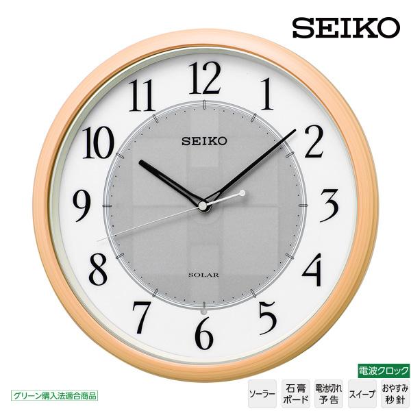 【ソーラー 電波 掛 時計】 セイコー SEIKO SF243B 電波 掛 時計 ソーラー 電池切れ予告 スイープ おやすみ秒針 グリーン購入法適合商品 【30%OFF】【お取り寄せ】 【02P03Dec16】
