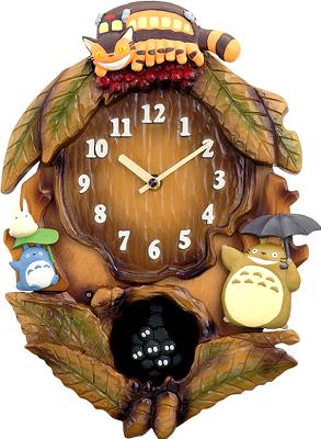 【トトロ 時計 掛 壁掛 メロディ】 となりのトトロ M837N 4MJ837MN06 掛 時計 壁掛 時計 木枠 電子音 メロディ 日組 ネコバス 中トトロ まっくろくろすけ 【お取り寄せ】【30%OFF】 【02P26Mar16】