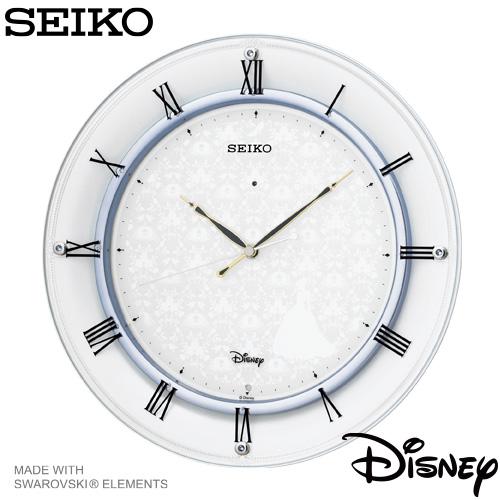 【ディズニー 電波 掛 時計】 ディズニー 電波 掛 時計 FS503W セイコー SEIKO ディズニータイム シンデレラ スワロフスキー スイープ おやすみ秒針 【お取り寄せ】【20%OFF】 【名入れ】 【Disneyzone】 【02P26Mar16】