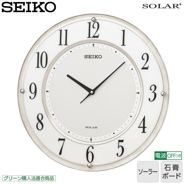 【薄型 ソーラー 電波 掛け時計】 SF506W セイコークロック 電波クロック ソーラークロック 掛け時計 薄型ソーラープラス 【30%OFF】【お取り寄せ】【02P03Dec16】