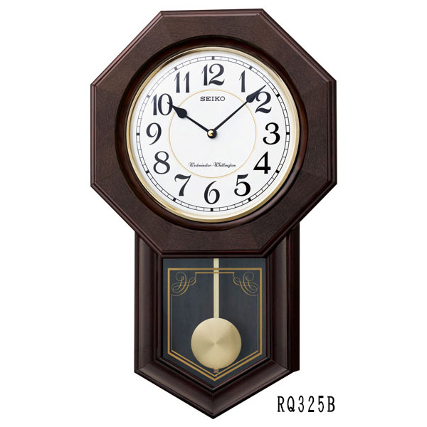 激安通販ショッピング 振り子時計 掛け時計 クオーツ 電子チャイム 八角尾長 ギフト 贈り物_送料込み 柱時計 お取り寄せ 02P03Dec16 セイコークロック 振り子 RQ325B 30%OFF セール SEIKO