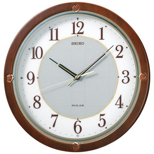 【ソーラー 掛け時計 電波時計】 SF232B セイコークロック 電波クロック スタンダード木枠 掛け時計 【30%OFF】【お取り寄せ】【02P03Dec16】