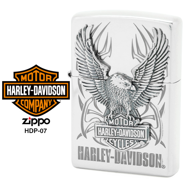 【Harley Davidson ハーレー ダビッドソン】 Zippo ハーレー ダビッドソン ジッポー ZIPPO Harley-Davidson HDP-07 シルバーイブシ 片面エッチング Sシルバーイブシメタル ライター 【お取り寄せ】【02P26Mar16】