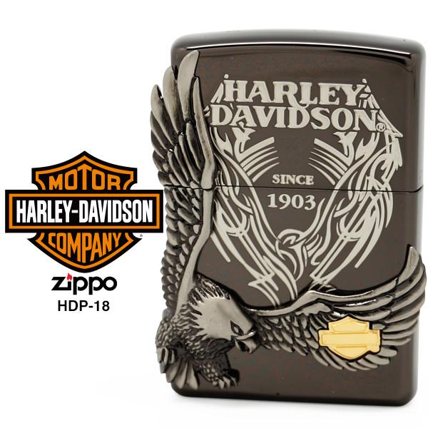 Zippo ハーレー ダビッドソン ジッポー ZIPPO Harley-Davidson HDP-18 ブラックイオンメッキ ライター 【在庫あり】【あす楽】