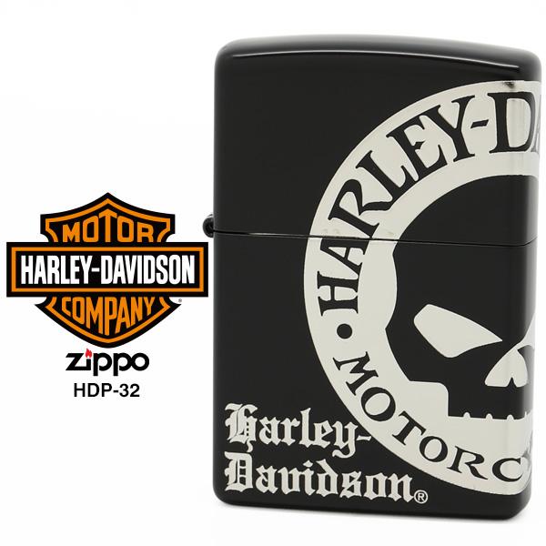 【Harley Davidson ハーレー ダビッドソン】 Zippo ハーレー ダビッドソン ジッポー ZIPPO Harley-Davidson HDP-32 イオンブラックマット 4面加工 ライター 【お取り寄せ】【02P26Mar16】