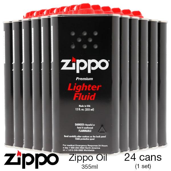 Zippo ジッポー ZIPPO オイル 355ml 大 大缶 12fl Lighter Fluid オイル缶 3165J ライター 24個 【お取り寄せ】【02P26Mar16】