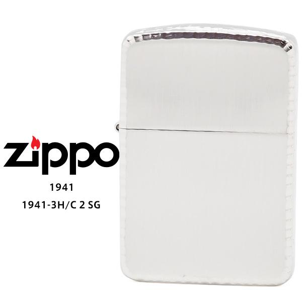 【Zippo ジッポー ライター】 Zippo ジッポー ZIPPO 1941-3H/C 2 SS シルバー 10ミクロン サテーナ リューター 手彫り彫刻 オイル ライター 【お取り寄せ】