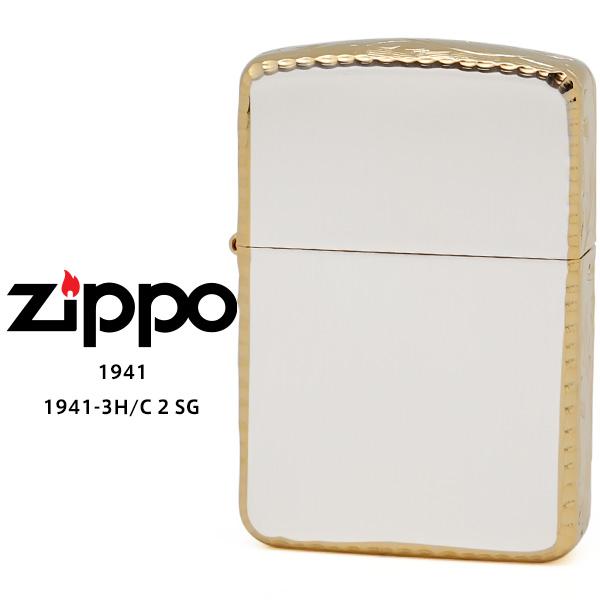 【Zippo ジッポー ライター】 Zippo ジッポー ZIPPO 1941-3H/C 2 SG ゴールド 10ミクロン サテーナ リューター 手彫り彫刻 オイル ライター 【お取り寄せ】