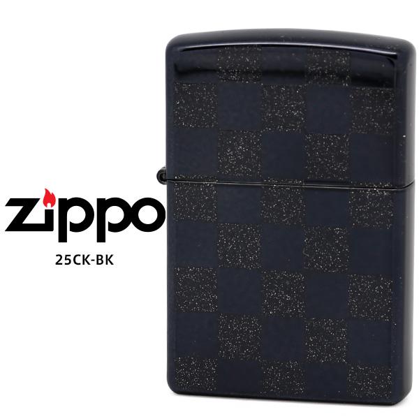 【Zippo ジッポー ライター】 Zippo ジッポー ZIPPO 25CK-BK ブラック クロームポリッシュ クリア 市松模様 チェッカーフラグ オイル ライター 【お取り寄せ】