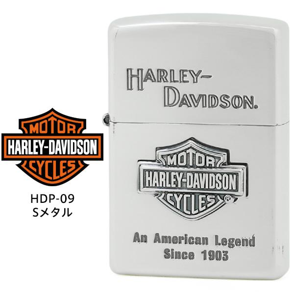 【Harley Davidson ハーレー ダビッドソン】 Zippo ハーレー ダビッドソン ジッポー ZIPPO Harley-Davidson HDP-09 シルバーイブシ 片面エッチング シルバーイブシメタル ライター 【お取り寄せ】【02P26Mar16】
