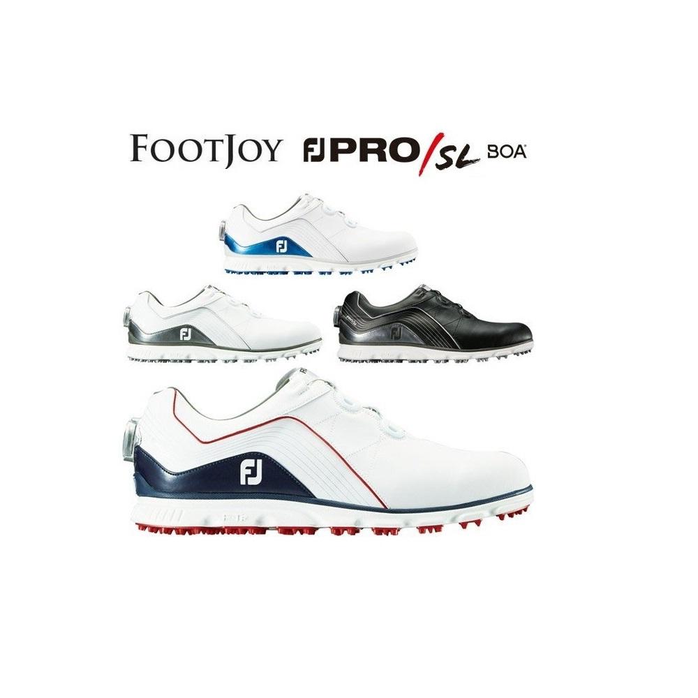 フットジョイ ゴルフシューズ プロSL ボア FOOTJOY PRO SL BOA スパイクレス メンズ 日本正規品 2018年モデル