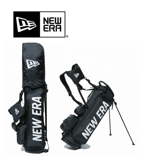 NEWERA GOLF ニューエラ ゴルフ キャディバッグ キャディーバッグ スタンド式 ブラック ホワイトプリントロゴ 11901502