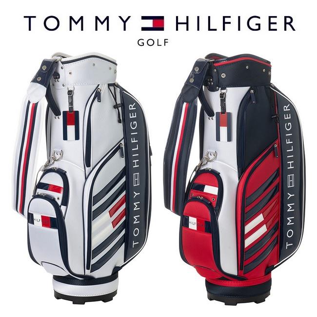 TOMMY HILFIGER GOLF キャディバッグ 2019年モデル  トミー ヒルフィガー ゴルフ TOMMY HILFIGER GOLF ストライプ キャディバッグ THMG9SC4