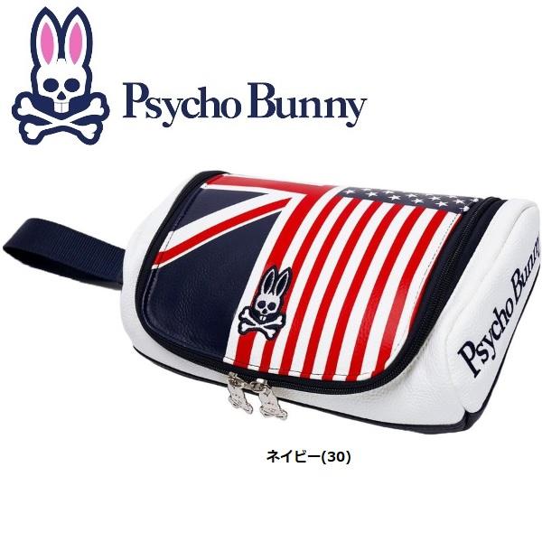 サイコバニー Psycho Bunny フラッグ ポーチ PBMG6SE3