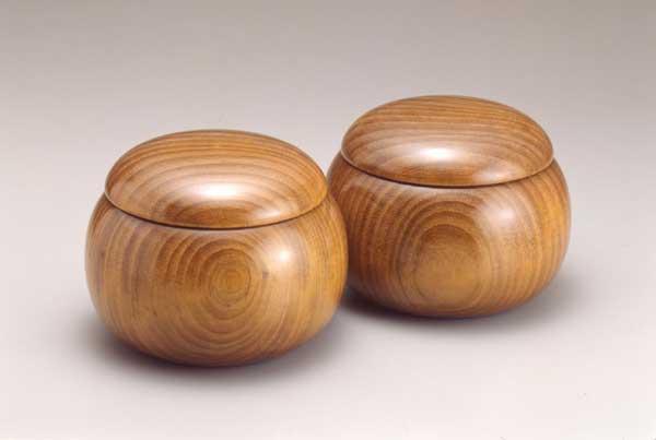 木製碁笥 クス 上特大(~36号)(日本棋院)